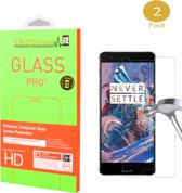 DrPhone 2 x Oneplus 3 Glas - Glazen Screen protector - Tempered Glass 2.5D 9H (0.26mm)