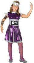 86b2c42aaa5f54 Robot verkleedset jurkje voor meisjes - carnavalskleding - voordelig  geprijsd 128 (7-9