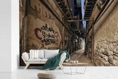 Fotobehang vinyl - Beklad straatbeeld van Damascus in Syrië breedte 390 cm x hoogte 260 cm - Foto print op behang (in 7 formaten beschikbaar)
