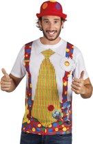 """""""T-shirt van clown voor volwassenen - Verkleedkleding - Large"""""""