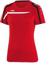 Jako - T-Shirt Performance Dames - rood/wit/zwart - Maat 34 - 36