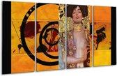 Glasschilderij Modern | Geel, Bruin, Zwart | 160x80cm 4Luik | Foto print op Glas |  F004884