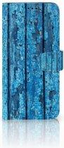 Samsung Galaxy S9 Plus Uniek Boekhoesje Wood Blue