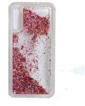Teleplus Samsung Galaxy A50 Water Stone Silicone Case Rose Gold + Nano Screen Protector