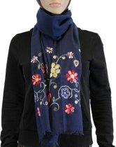 Sjaal 100% Katoen Blauw Multi Color