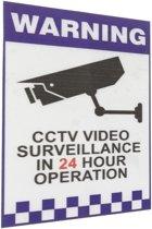 Waarschuwing CCTV Security Surveillance Camera Decal Sticker Teken 66mmx100mm Intern