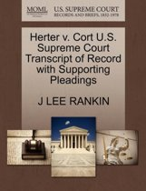 Herter V. Cort U.S. Supreme Court Transcript of Record with Supporting Pleadings