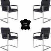Feel Furniture - Conference Hugo stoel set 4- Zwart