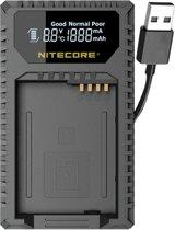 Nitecore ULQ Lader voor BP-DC12 + USB en indicator