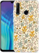 Honor 20 Lite Hoesje Doodle Flower Pattern
