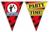 3x Bruidspaar vlaggenlijn / slinger waarschuwingsbord 10mtr