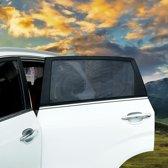 2 stuks auto zonnescherm | achterruit | zonbescherming | eenvoudige installatie | 46 x 56 - 90cm (hxb)