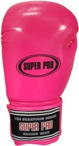 Super Pro Shiny Skintex Gloves - Pink-8 oz.