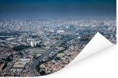 Luchtfoto van de Braziliaanse stad Guarulhos in de staat van São Paulo Poster 120x80 cm - Foto print op Poster (wanddecoratie woonkamer / slaapkamer)