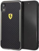Ferrari backcover hoesje Logo Apple iPhone XR Zwart - Scuderia - Carbon fiber