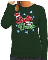 Foute kersttrui / sweater Santa is a little drunk groen voor dames - kerstkleding / christmas outfit XL (42)
