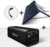 Mobisun 60W zonnepaneel + 120W powerbank bundel