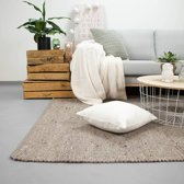 Wollen vloerkleed - Wise Taupe 70x140cm