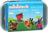 Ministeck: Sweet Wildies 4 in 1 - ca. 510 delen