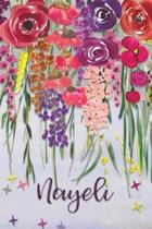 Nayeli: Personalized Lined Journal - Colorful Floral Waterfall (Customized Name Gifts)