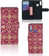 Motorola Moto E6 Plus Wallet Case Barok Pink
