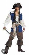 Heren kostuum Piraat Jack luxe 6 delig in de maat 58