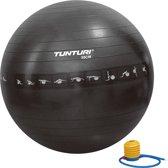 Tunturi Fitnessbal - Gymball - Swiss ball - Ø 55 cm - Anti burst - Inclusief pomp - Zwart