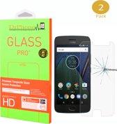 DrPhone 2 x Moto G5s Glas - Glazen Screen protector - Tempered Glass 2.5D 9H (0.26mm)