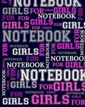 Notebook For Girls: 1/4 Inch, 4 Squares Per Inch - Large Size 8.5'' x 11'' Inch - 110 Graphing Paper Pages - Perfect Notebook for Architects