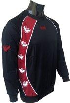 KWD Sweater Pronto - Zwart/rood - Maat L
