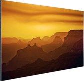 Zonsondergang over Grand Canyon Aluminium 90x60 cm - Foto print op Aluminium (metaal wanddecoratie)