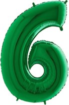 Folieballon cijfer '6 groen (100cm)