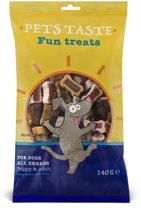 Pets Taste Duo Bones Kip&Rund&Lam - Hondensnacks - 140 g