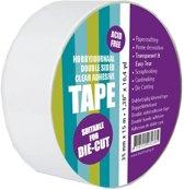 Dubbelzijdig Helder Zelfklevend tape 35 mm x 15 meter