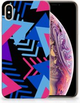 iPhone Xs Max  TPU-siliconen Hoesje Design Funky Triangle