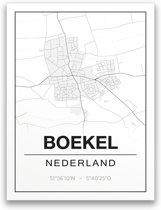 Poster/plattegrond BOEKEL - 30x40cm