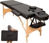 Mobiele massagetafel 5cm - 2 Zones + draagtas zwart 401463