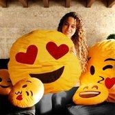 MikaMax - Emoji kussens XXL - Heart Eyes