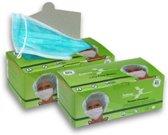 Mondmaskers met elastiek Groen. 50 stuks