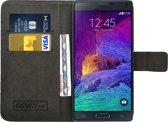 GSMWise® – PU lederen Portemonnee hoesje voor de Samsung Galaxy Note 4 Wallet Case - Telefoonhoesje - Bescherm Hoes - Book Style - Book Cases - klap Flip Cover - Smartphone hoesje – kleur zwart