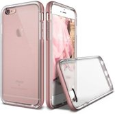 SMH Royal - Geschikt voor Apple iPhone 6/ 6S Silicone Transparant Hoesje / Case / Cover Met Roze Bumper, Schokabsorberend, Easy Fit, Protection