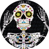 24 stuks: Set a 6 Bordjes - Day of the dead - 23cm