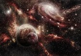Fotobehang Space Planets | XL - 208cm x 146cm | 130g/m2 Vlies