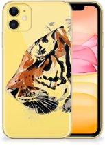 Hoesje maken Apple iPhone 11 Watercolor Tiger