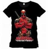Deadpool - Pose Mannen T-shirt - Zwart - S