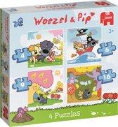 Woezel & Pip 4 in 1 Puzzel