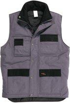 Gevavi Workwear GW21 Grijs Bodywarmer Uniseks S