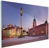Castle Square Warschau Glas 30x20 cm - Foto print op Glas (Plexiglas wanddecoratie)