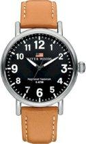 River Woods RW420002 Sacramento horloge Heren - Bruin - Leer 42 mm