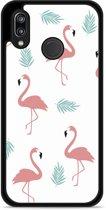 Huawei P20 Lite Hardcase Hoesje Flamingo Pattern